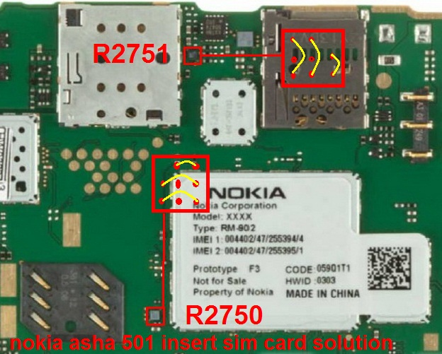Nokia    Asha    501    Insert Sim Jumper Ways Solution   gsmfixer