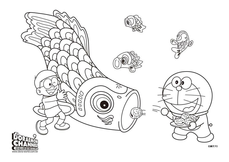 Doraemon Coloring Pages To Print Free
