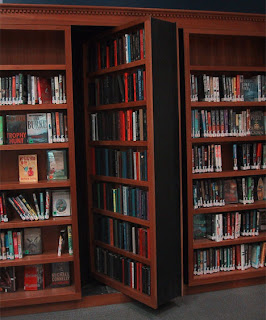 Hidden Door Book Shelves