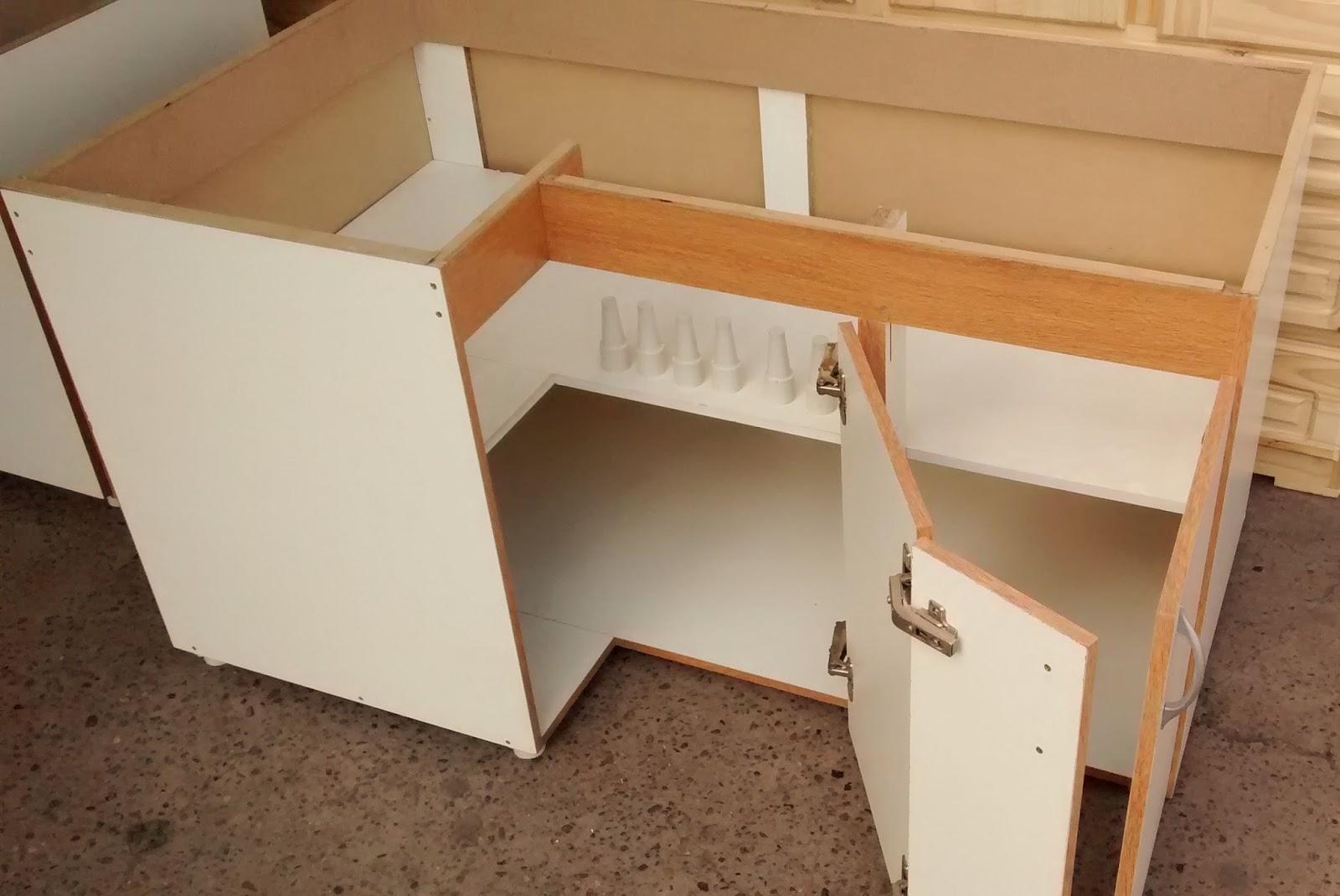Pichon muebles bajo mesada y alacena melamina blanca for Planos de bajo mesada