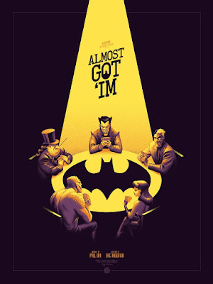 "Batman: The Animated Series ""Almost Got 'im"" Variant Edition Screen Print by Phantom City Creative & Mondo"
