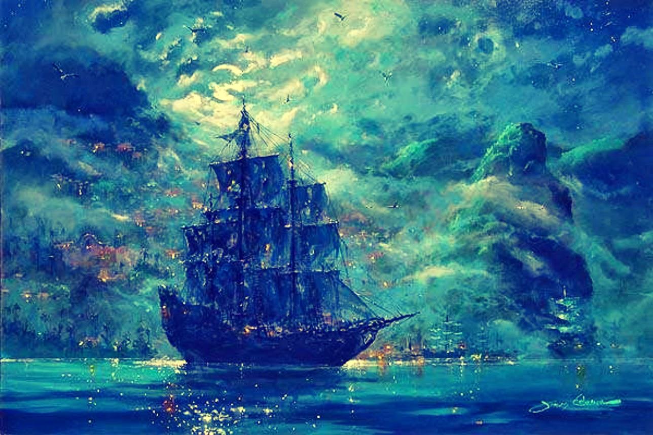 fantasy ship scenery