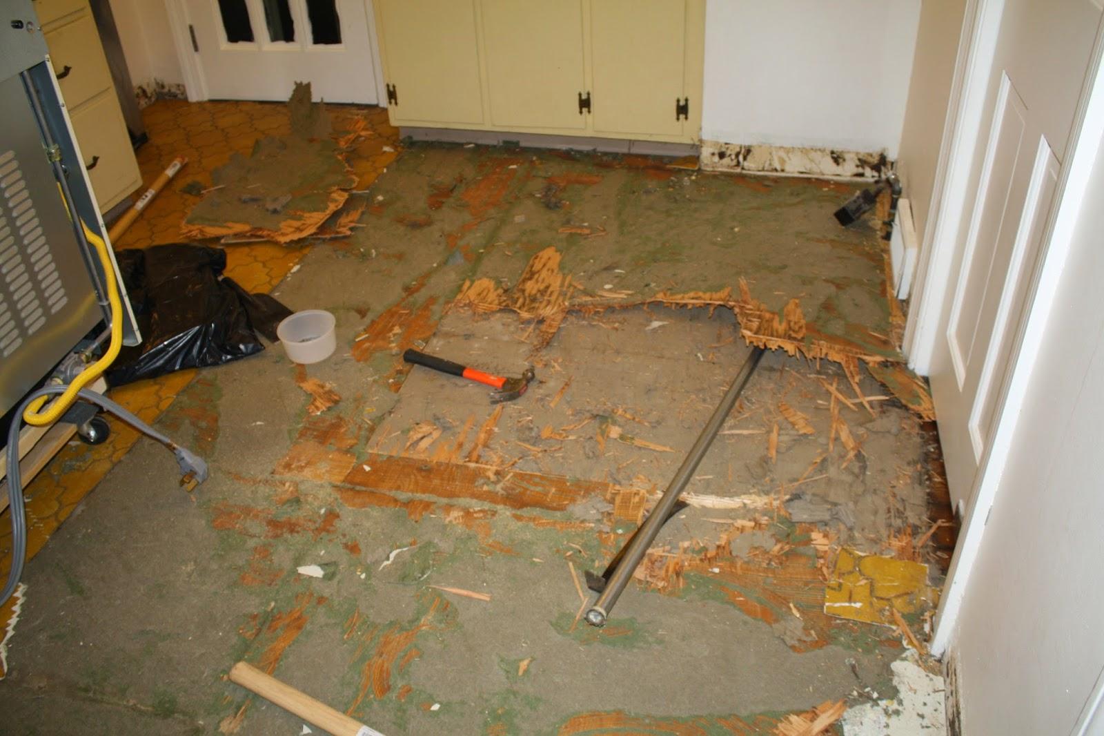 Removing Linoleum - Scraping Up Linoleum - Restoring Wood Floors - Ripping Up Linoleum - Removing Black Tar from Wood Floors