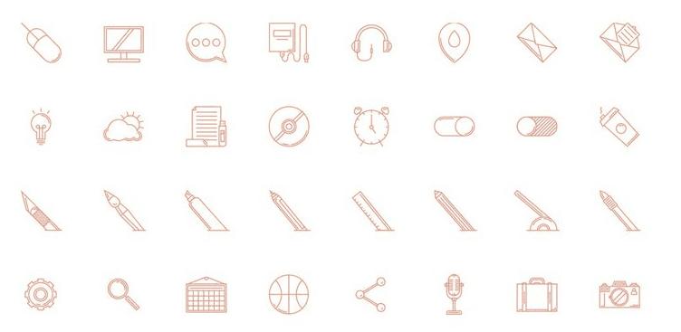 Free Icon Set 2015 (AI, EPS)