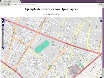 Imagen de controles con OpenLayers