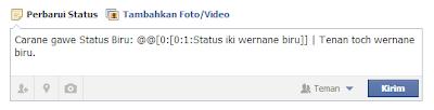 Cara Membuat Status Biru di Facebook