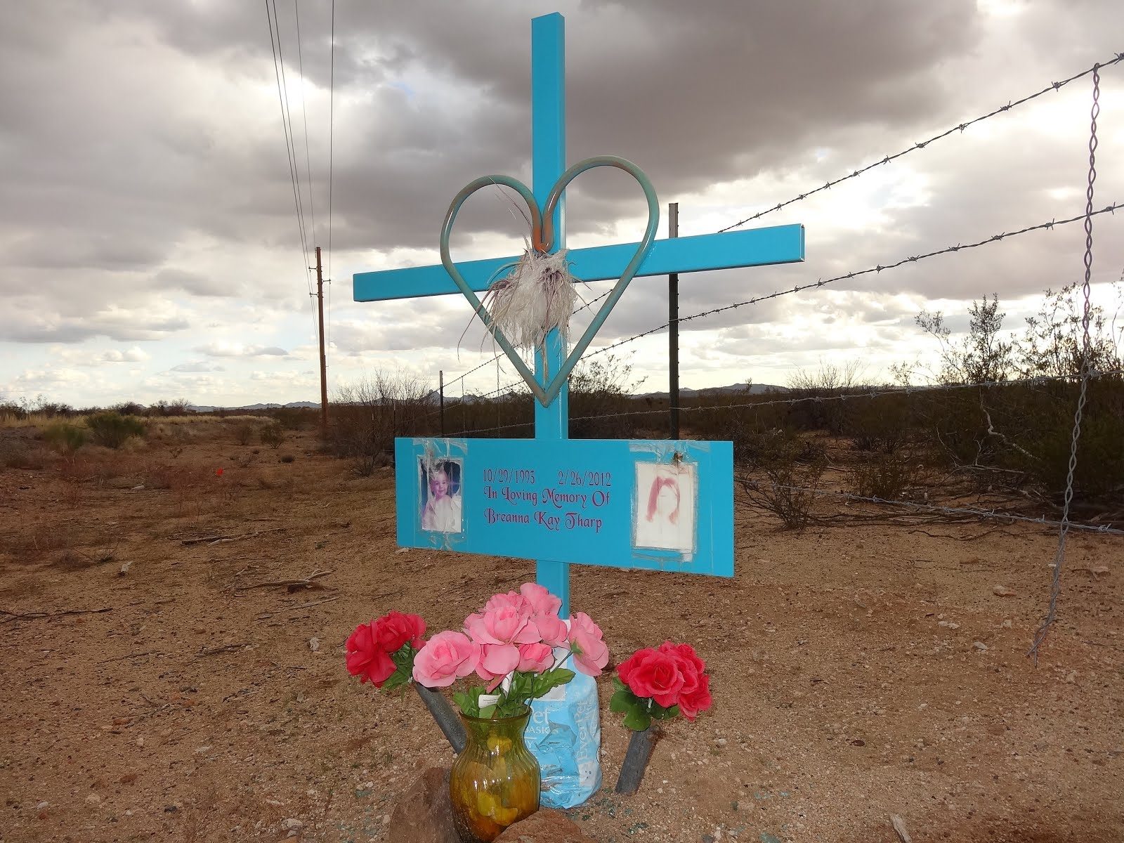 Descansos: Spanish for Sacred Tribute to Loved Ones Perished on the Road.