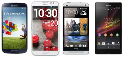 Galaxy S4 VS. Xperia Z VS. HTC One VS. Lumia 920 VS. iPhone 5 Smartphones