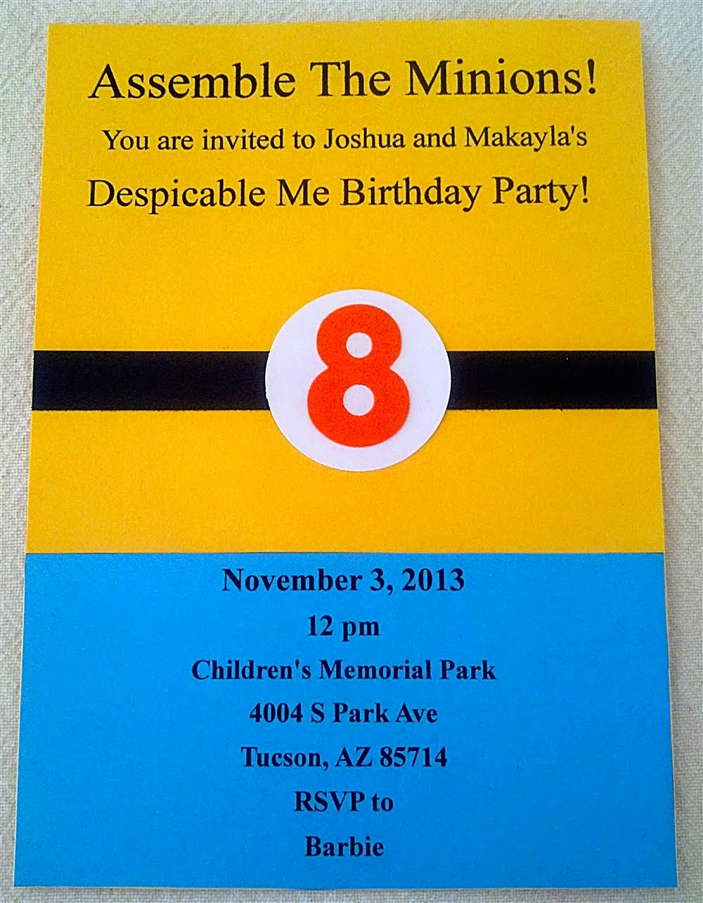 Despicable Me Birthday Invitations