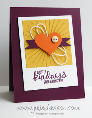 Stampin' Up! Kinda Eclectic Heart Starburst card #stampinup www.juliedavison.com