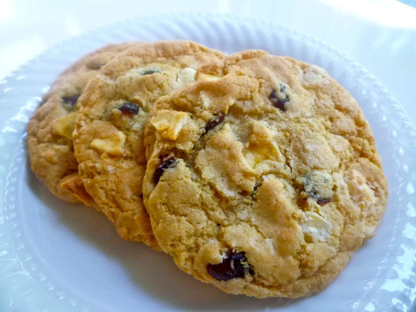 ... in the Barbershop?!: White Chocolate, Cranberry, Banana Chip Cookies