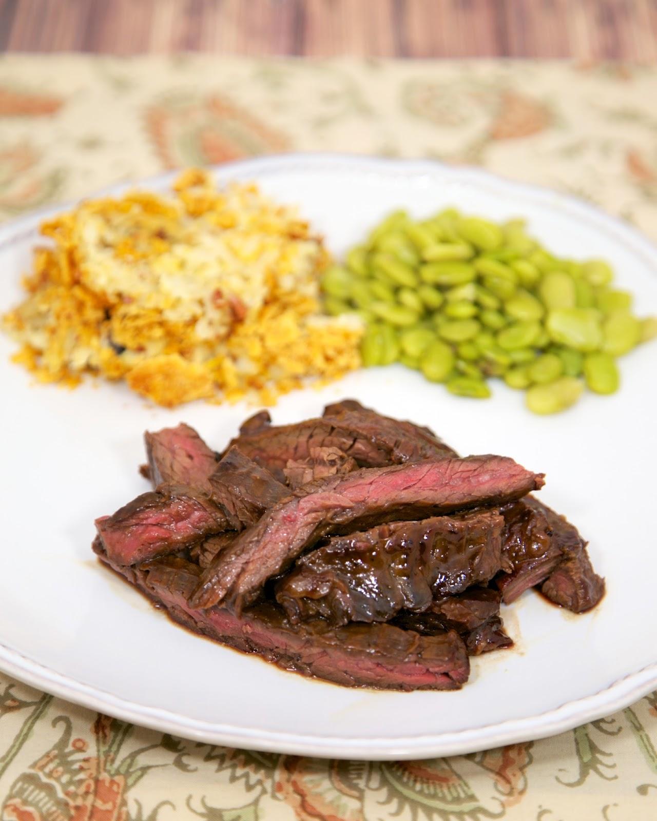 molasses grilled skirt steak