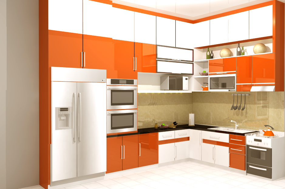 Desain kitchen set apartement minimalis modern terbaru for Kitchen set minimalis
