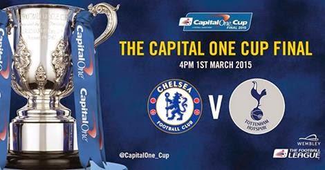 Siaran Langsung Final Capital One Cup 2015 Chelsea vs Tottenham