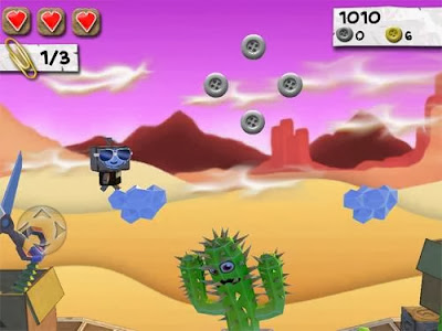 Screenshot of iOS version of Paper Monsters