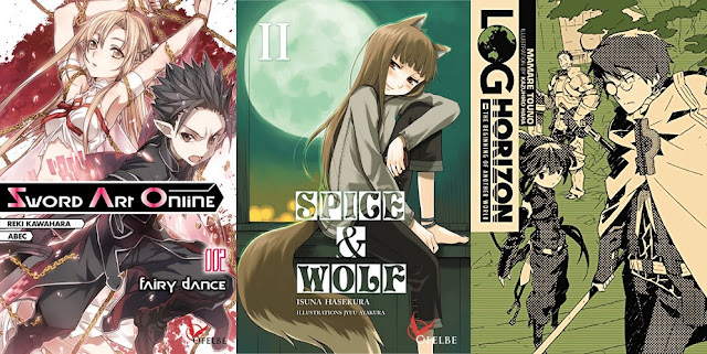 Actu Light Novel, Actu Manga, Light Novel, Log Horizon, Manga, Ofelbe, Spice and Wolf, Sword Art Online,