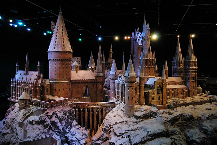 Hogwarts Filming Model with snow | Harry Potter Studio Tour