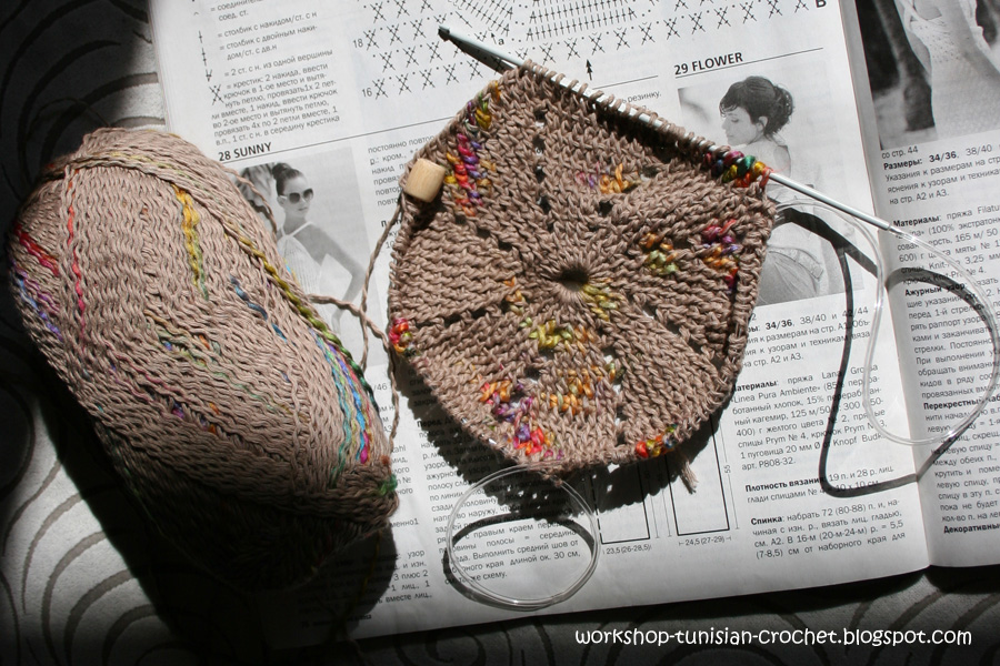 Схемы тунисского вязания крючком, вязание.
