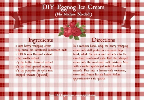 Fast easy homemade ice cream recipe youll love this farm click here to download your free eggnog ice cream recipe card ccuart Image collections