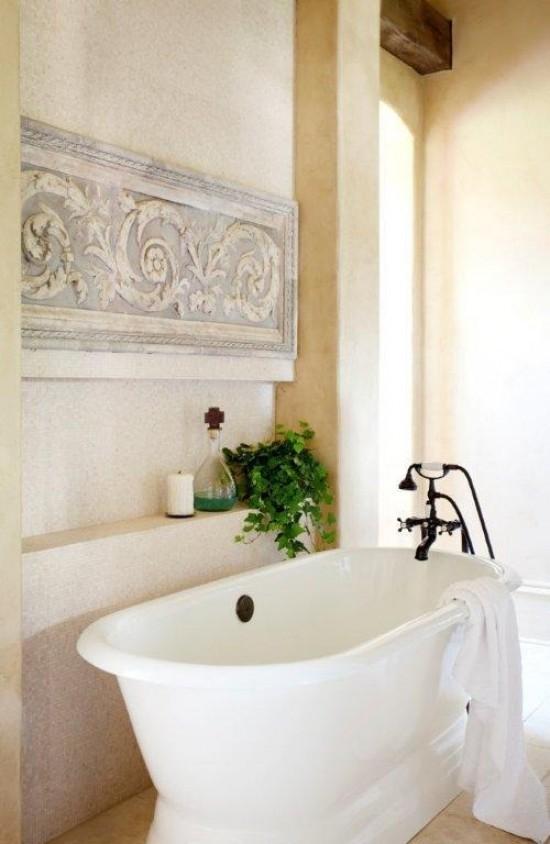 Pretty bathroom wall decor : To da loos pretty pedestal soaker tub bathrooms