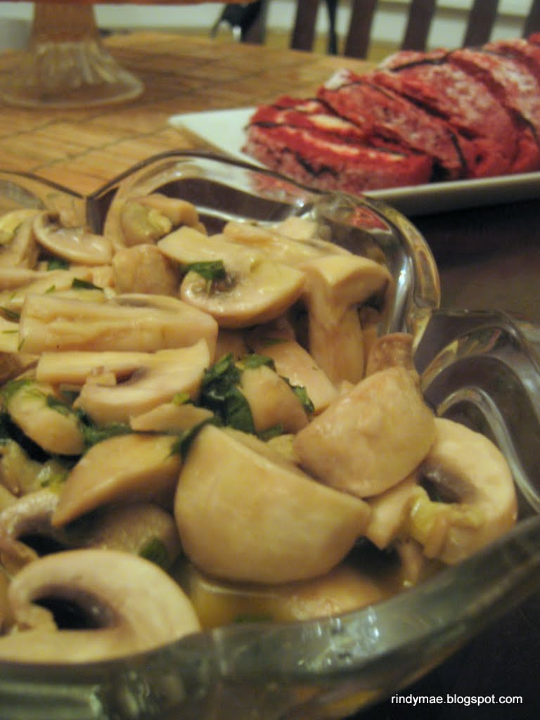 Rindy Mae: Marinated Mushrooms