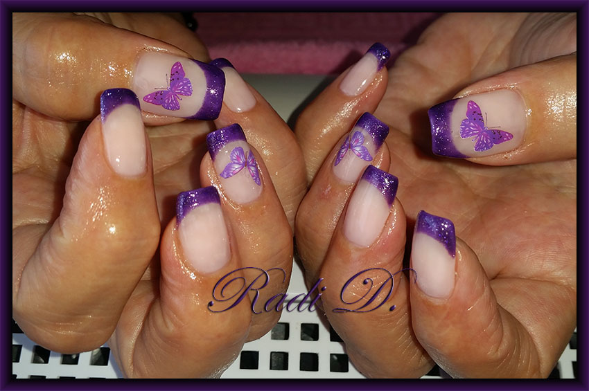 Its all about nails purple french two designs purple french two designs prinsesfo Image collections