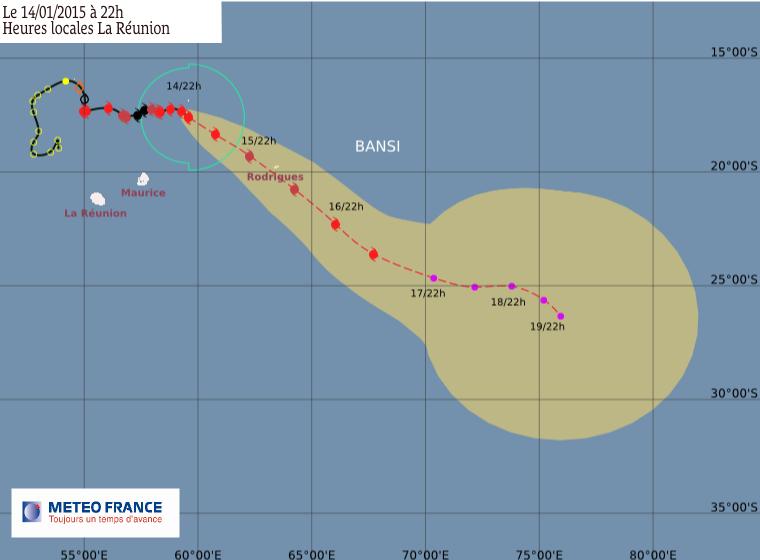 Cyclone tropical Bansi: l'île Rodrigues menacée