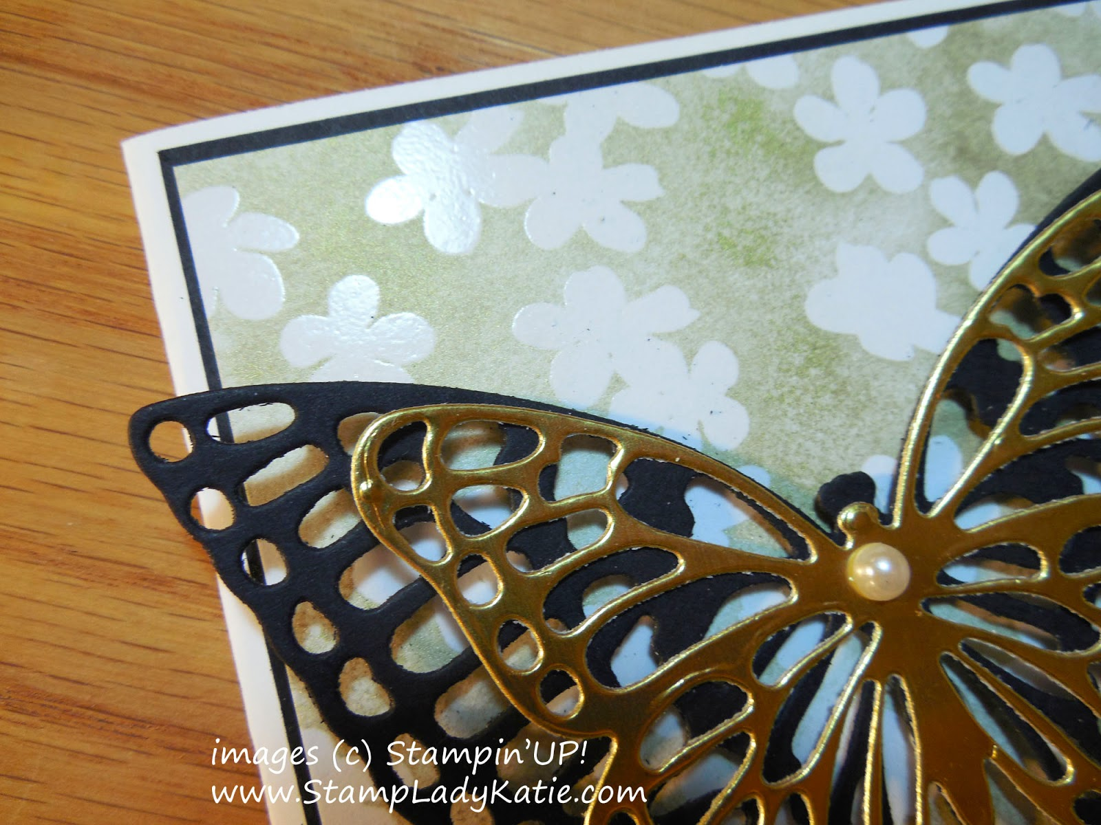 Card made with Stampin'UP!'s Butterfly Basics Thinlet Dies