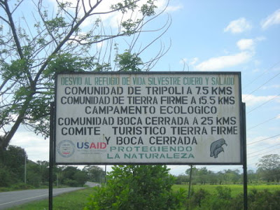 USAID sign, Tripoli, Honduras