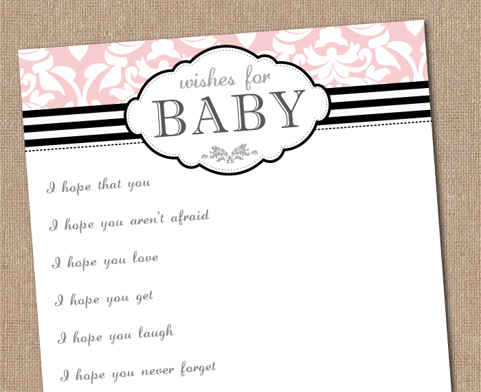 Free chevron baby shower invitation template party for Wishes for baby printable template