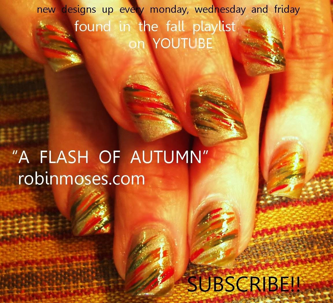 Robin moses nail art nail art fall nail art fall designs pretty fall nail art prinsesfo Choice Image