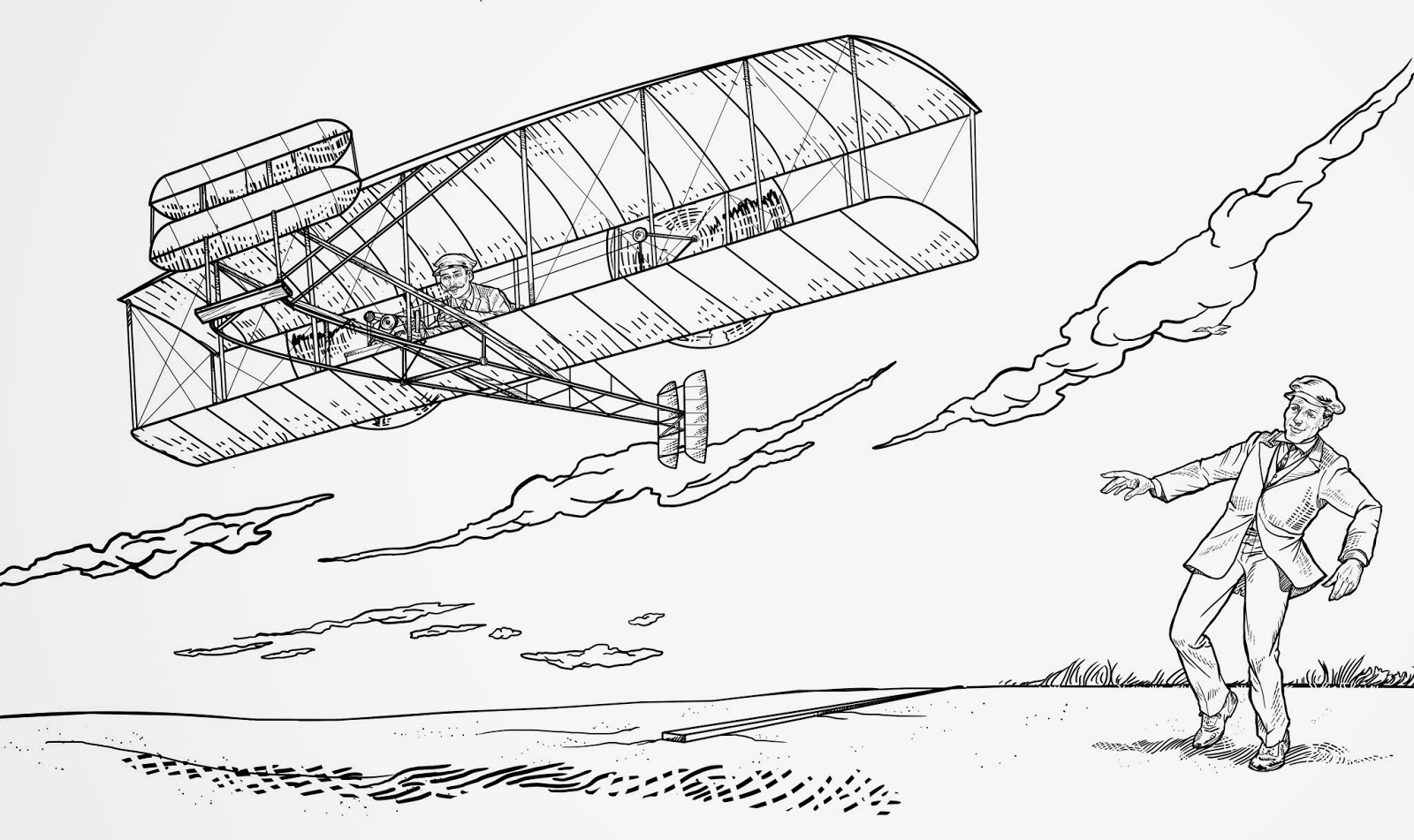 Wright Brothers Airplane Coloring Pages Sketch Coloring Page Wright Brothers Coloring Page