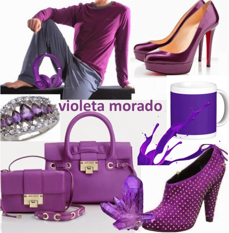 violeta, morado