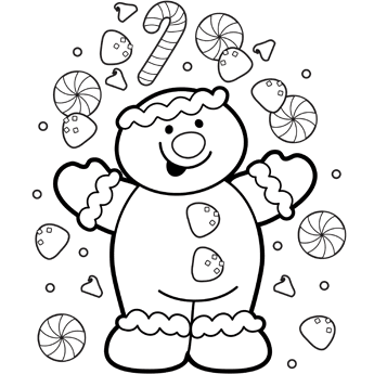 Free Christmas Gingerbread Man Coloring Pages