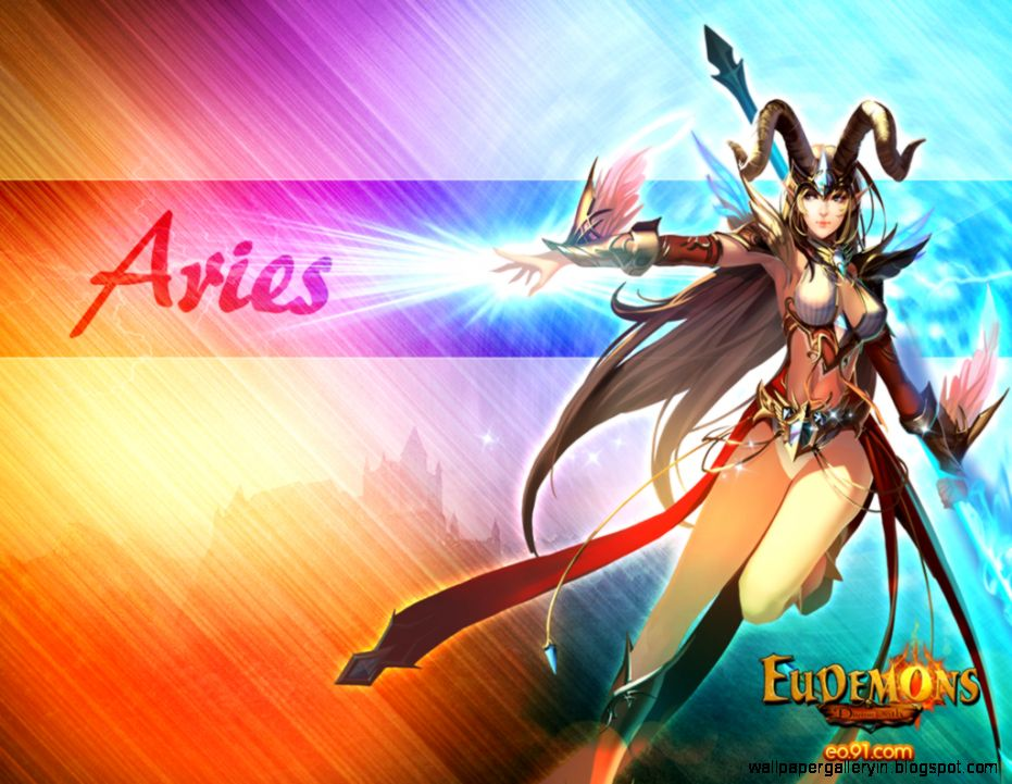 Aries Zodiac Cartoon Wallpaper Desktop 10199 Wallpaper
