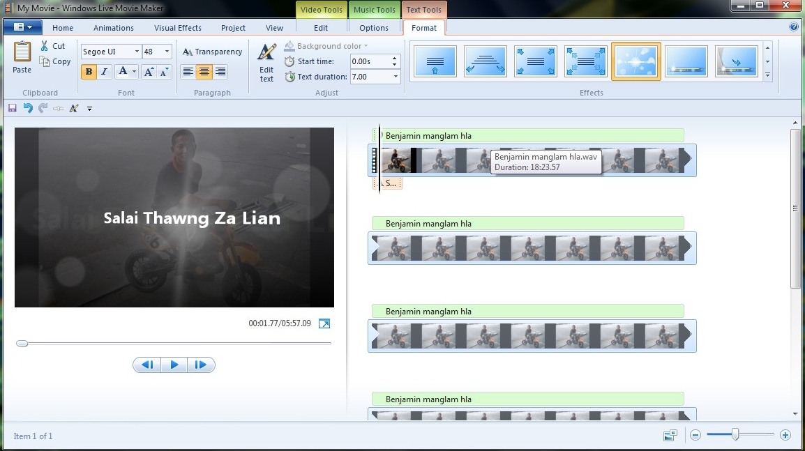 Thawng Za Lian: Windows Movie Maker