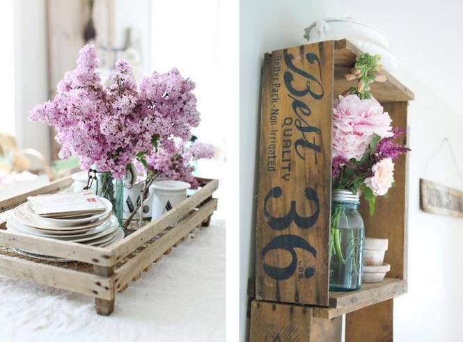 Ideas para reciclar cajones de frutas Hogar Total - imagenes de muebles con cajones de fruta