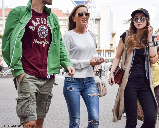Marijana Kajkić, Dajana Bartolić, Street style Zagreb, Croatia by People & Styles, end of summer fashion