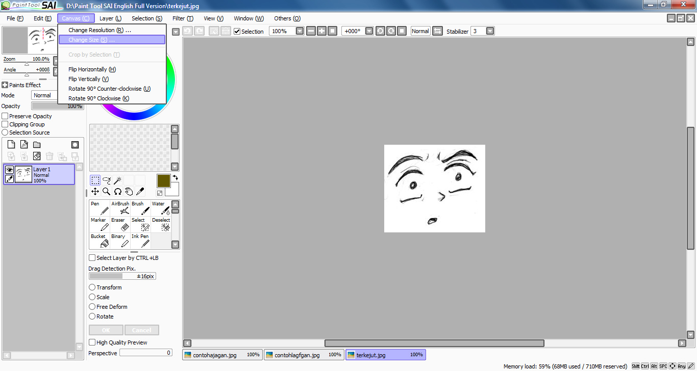 Download Paint Tool SAI 1.1.0 English Full Version Only 2.4 MB