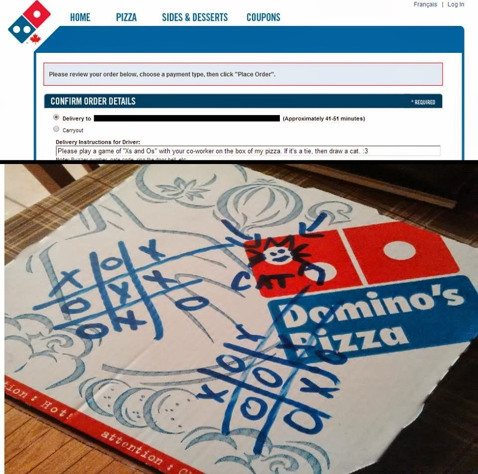 Dominos Pizza Request