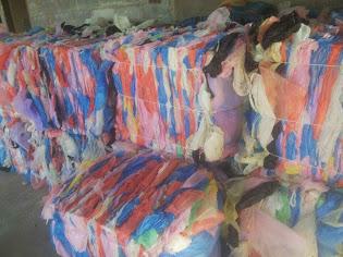 ถุงพลาสติกล้างสะอาดHDอัดก้อน