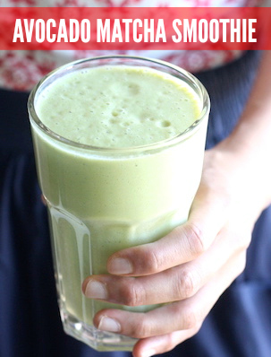avocado matcha smoothie recipe