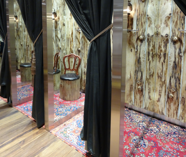 Change rooms at new Ted Baker store in Vancouver