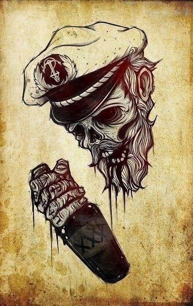 ♥ ♫ ♥ Bearded Zombie Flash Art ♥ ♫ ♥
