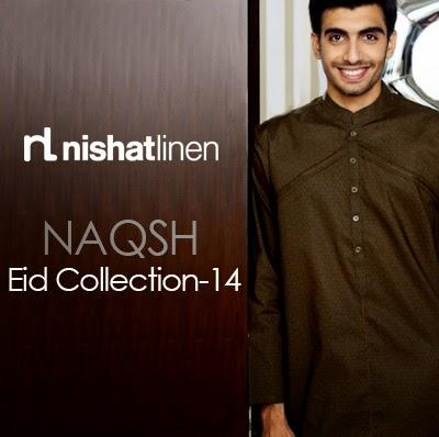 Nishat-Linen Naqsh - Gents Kurta Shalwar for Eid -2014 | Salwar Kameez