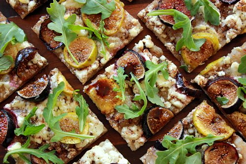 The Bojon Gourmet: Fresh Fig Flatbread with Goat Cheese and Arugula