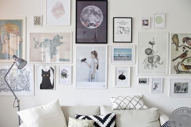 Decotips gu a para colgar y crear composiciones for Laminas para cubrir paredes