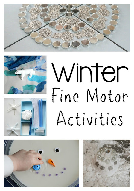 Winter themed fine motor activities for kids!