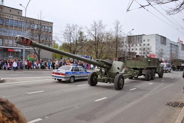 На параде Победы в Перми