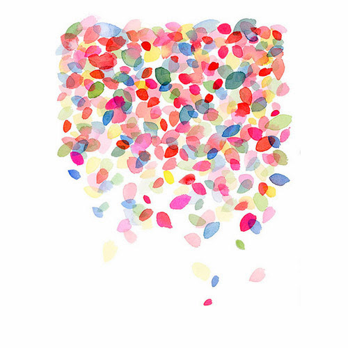 Yao Cheng Colorful Dots Falling print from Wicked and Weird blog